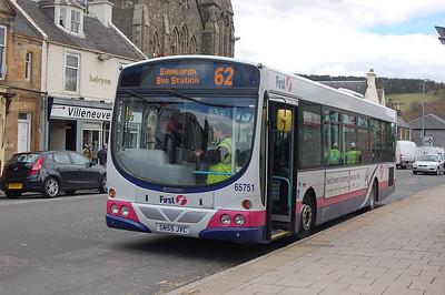 First 65751 (SN55JVC), Peebles, 27th April 2012
