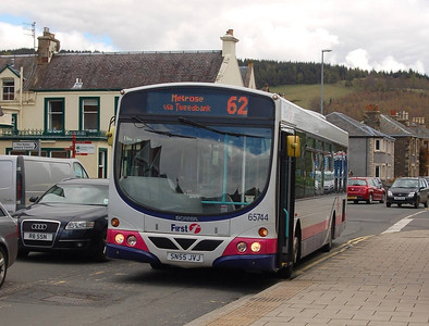 First 65744 (SN55JVJ), Peebles, 27th April 2012