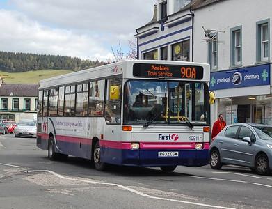 First 40911 (P632CGM), Peebles, 27th April 2012