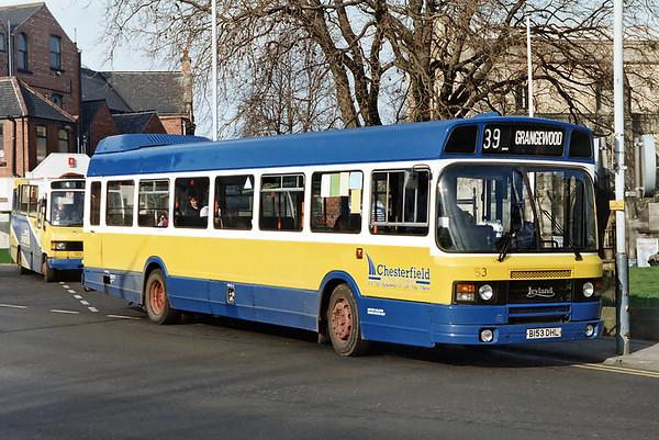 53 B153DHL, Chesterfield 4/3/1992