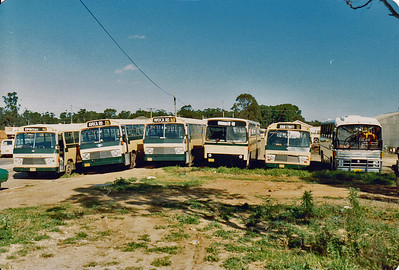 Line up at front of depot. Photo taken in 1983.