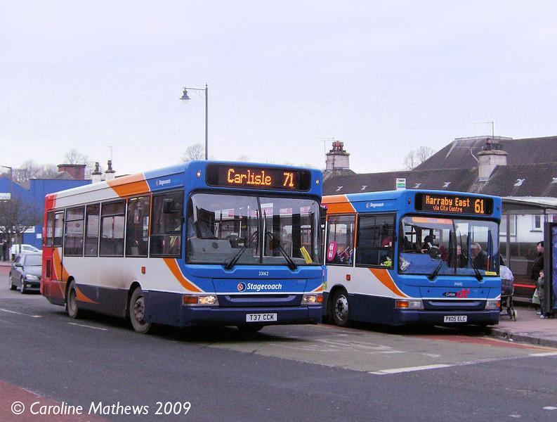Stagecoach 33162 (T37CCK), West Tower Street, Carlisle, 4th February 2009