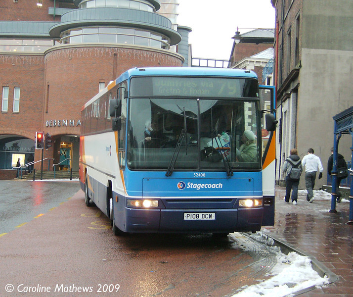 Stagecoach 52408 (P108DCW), West Tower Street, Carlisle, 7th January 2009