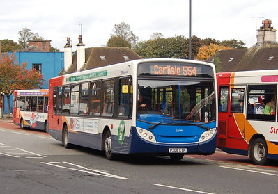 Stagecoach 22599 (PX085CTF), West Tower Street, Carlisle, 1st October 2012