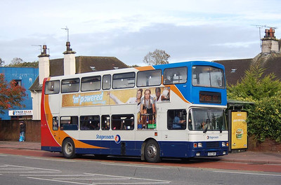 Stagecoach 16657 (R257NBV), West Tower Street, Carlisle, 1st October 2012