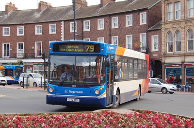 Stagecoach 22142 (S142TRJ), English Street, Carlisle, 1st October 2012
