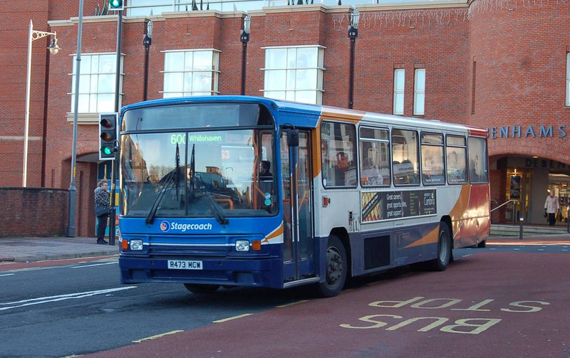 Stagecoach 20473 (R473MCW), Carlisle, 5th January 2012