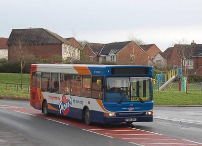 Stagecoach34716 (PX05EKK), Durranhill, Carlisle, 29th January 2013