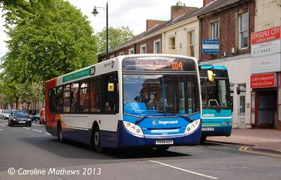 Stagecoach 24124 (PX59AZO), Warwick Road, Carlisle, 1st June 2013