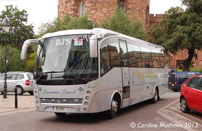 Bj's Coaches V9HAY, Carlisle Station, 17th June 2013