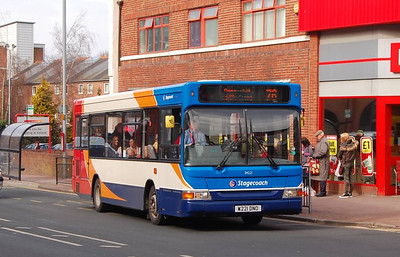 Stagecoach 34221 (W221DNO), Lowther Street, Carlisle, 15th April 2013