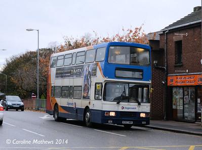 Stagecoach 16657 (R257NBV), West Tower Street, Carlisle, 7th November 2014