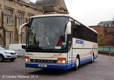 Victory Coaches N10HOL, Carlisle Station, 12th April 2014