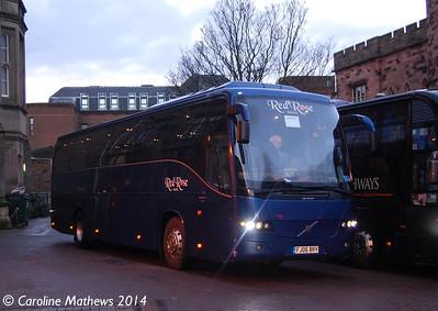 Red Rose Travel FJ06BRV, Carlisle Station, 13th January 2014