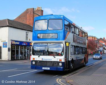 Stagecoach 16119 (R119XNO), Botchergate, Carlisle, 14th April 2014