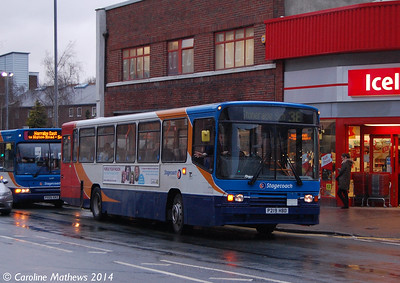 Stagecoach 20219 (P219HBD), Lowther Street, Carlisle, 18th February 2014