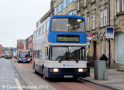 Stagecoach 16650 (R250NBV), Lowther Street, Carlisle, 5th January 2015