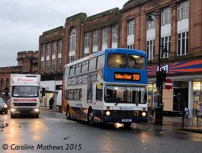 Stagecoach 16119 (R119XNO), English Street, Carlisle, 9th December 2015