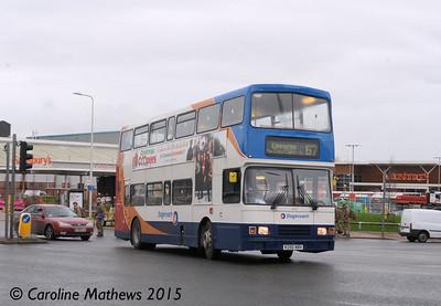 Stagecoach 16650 (R250NBV), Bridge Street, Carlisle, 9th December 2015