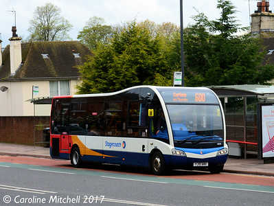 Stagecoach 48001 (YJ15AMV), West Tower Street, Carlisle, 21st April 2017