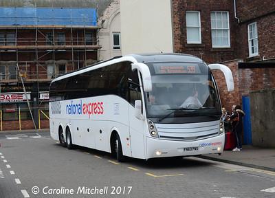 Bruces of Salsburgh FN63PWX, Carlisle Bus Station, 21st April 2017