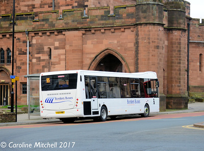 Borders Buses YJ17FWS, English Street,  Carlisle, 6th April 2017