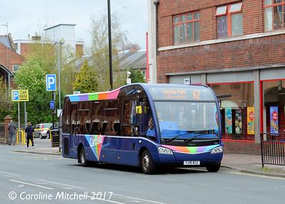 Stagecoach 47964 (YJ15ACZ), Lowther Street, Carlisle, 21st April 2017