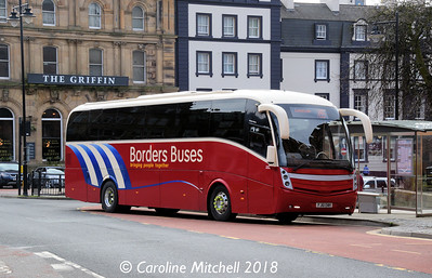 Borders Buses 11116 (FJ61EWH), English Street, Carlisle, 9th April 2018