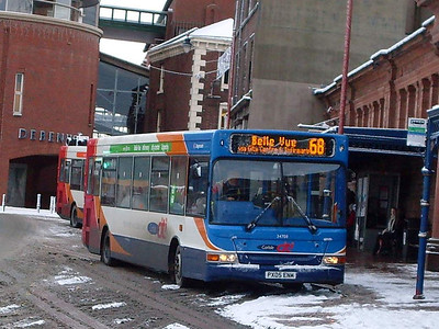 Stagecoach 34708 (PX05ENM), West Tower Street,  Carlisle, 6th January 2010