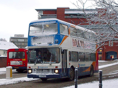 Stagecoach 13297 (F297ORJ), West Tower Street,  Carlisle, 6th January 2010