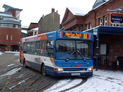 Stagecoach 34691 (PX05ELH), West Tower Street,  Carlisle, 6th January 2010