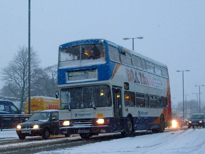 Stagecoach 14209 (J2009HFR), Castle Way,  Carlisle, 6th January 2010