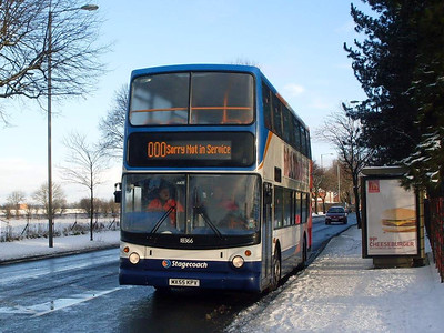 Stagecoach 18366 (MX55KPV), Warwickl Road, Carlisle, 5th January 2010