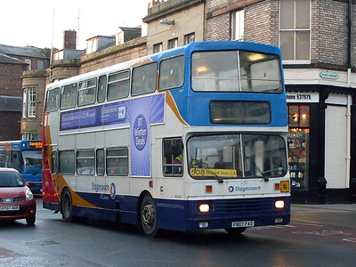 Stagecoach 14247 (F807FAO), Lowther Street, Carlisle, 8th February 2010
