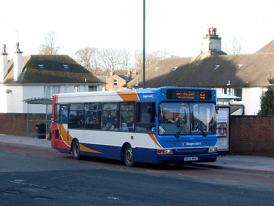 Stagecoach 34214 (W214DNO), West Tower Street, Carlisle 17th January 2011