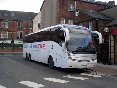 National Express SC43 (FJ57KGE), Carlisle Bus Station, 17th January 2011