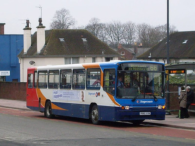 Stagecoach 20960 (R960XVM), West Tower Street, Carlisle, 21st February 2011