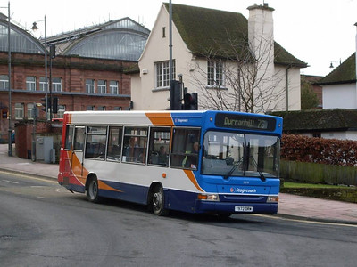 Stagecoach 33076 (V972DRM), Scotch Street, Carlisle 8th February 2011