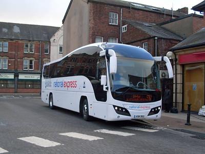 Parks of Hamilton KSK952, Carlisle Bus Station, 17th January 2011