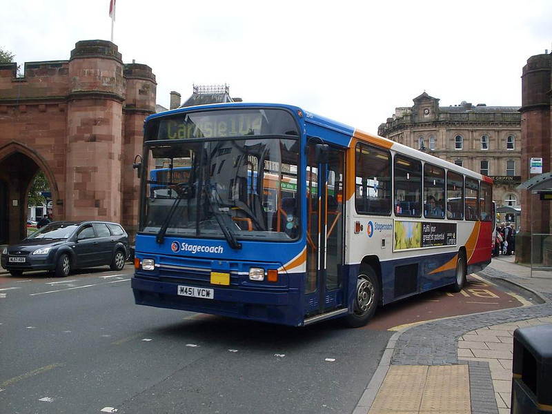 Stagecoach 20451 (M451VCW), English Street, Carlisle, 31st August 2011