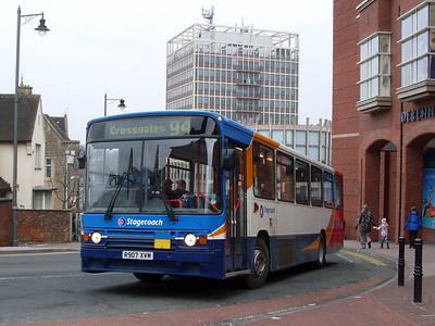Stagecoach 20907 (R907XVM), Carlisle, 21st February 2011