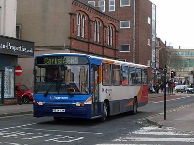 Stagecoach 20924 (R924XVM), Lonsdale Street, Carlisle 8th February 2011