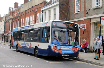 Stagecoach 27647 (GX10KYZ), Chichester, 26th July 2011