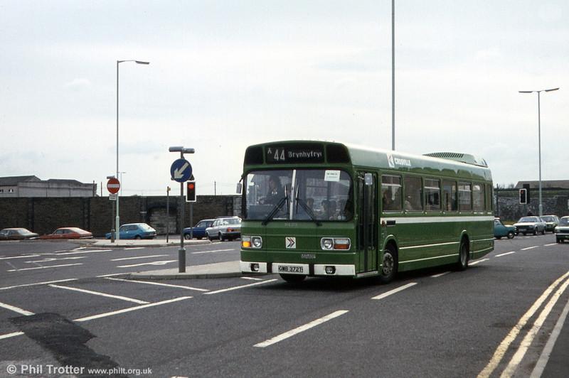 Leyland National/B49F SNL372 (GMB 372T) in West Way, Swansea.