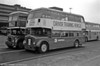 The second Crosville Bristol FS6G hired by SWT for driver training was 1961-built DFG38 (319 PFM), this time in the company of two SWT Bristol FLF training vehicles at the Quadrant Bus Station, Swansea.