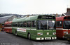 Seen at Brunswick Street depot, Swansea is Leyland National/B49F SNL379 (GMB 379T).