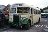 KA226 (LFM 302) was one of 35 vehicles ordered by Midland General but diverted to Crosville. It is a 1950 Leyland Tiger PS1 with Weymann dual purpose bodywork, nowadays part of the heritage fleet of Quantock Motor Services, Norton Fitzwarren. Seen at Bishops Lydeard, 1st October 2005.