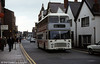Bristol VRT/ECW H43/31F DVL342 (WDM 342R) in advertising livery at Chester.