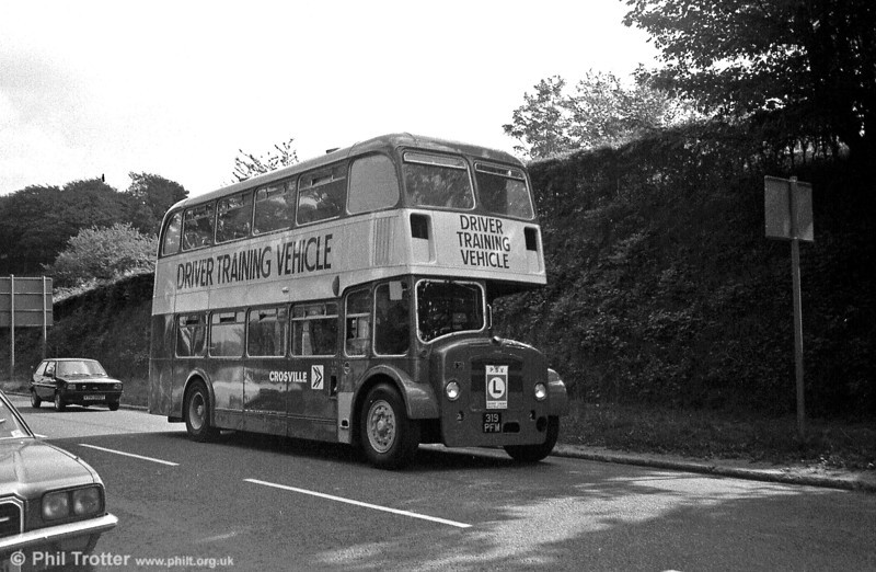 Bristol FS6G/ECW H33/27RD DFG38 (319 PFM), seen here near Broadway, Swansea. This vehicle has since been preserved.