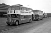 The two Crosville Bristol FS6G trainers, DFG125 (1205 FM) and DFG 38 (319 PFM) at Swansea Quadrant Bus Station in the early 1980s.